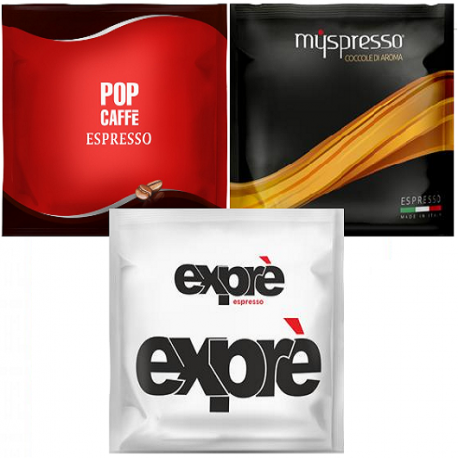 Sicilian Offer - ESE coffee pods - 30 each of the 3 blends pictured