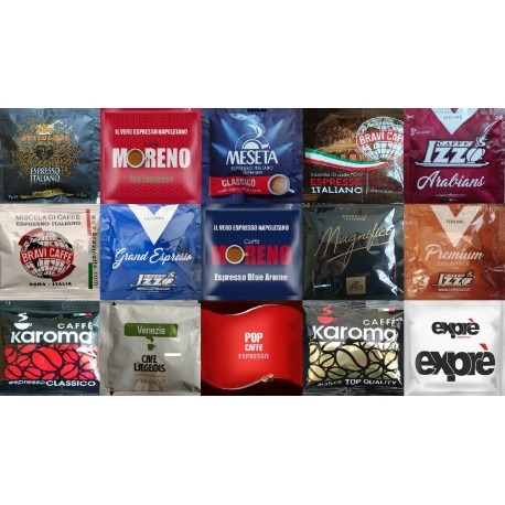 Unique Offer - ESE coffee pods - 6 each of the 15 blends pictured